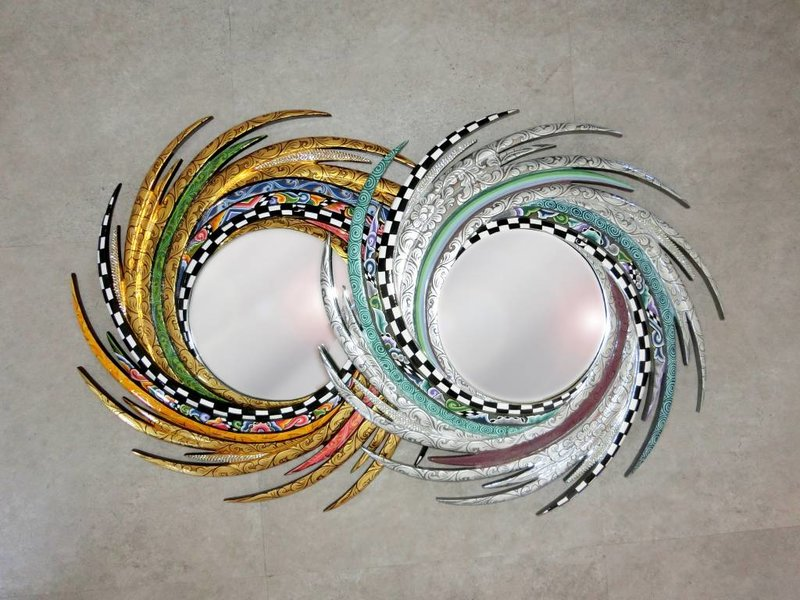Toms Drag Spiegel Energy - M, Dekorative, runde Spiegel