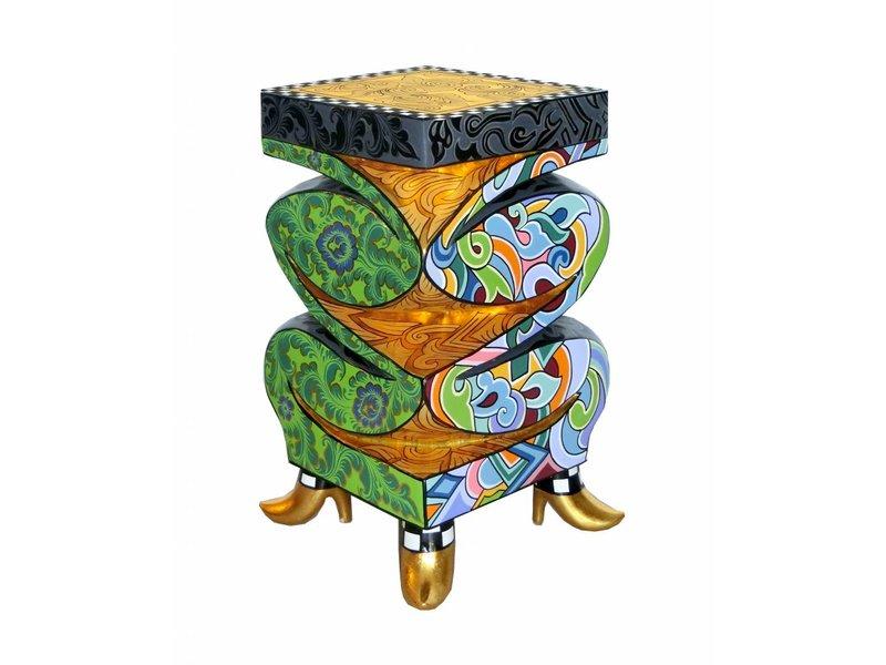 Toms Drag Column or Side table Mississippi gold