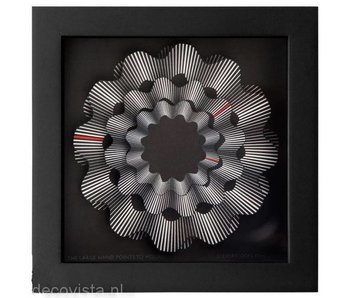 CleverClocks Reloj de pared de obra de arte White Ribbon - L