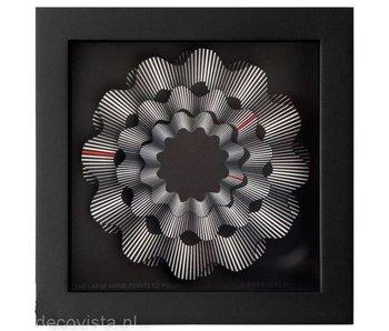 CleverClocks Wanduhr undKunstwerk White Ribbon - L