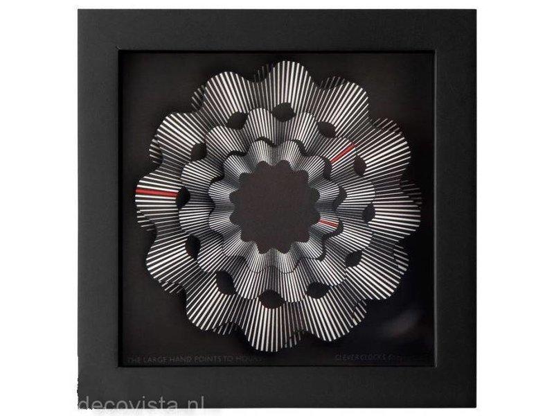 CleverClocks Clock White Ribbon CleverClock table clock, Art clock
