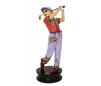 Toms Drag Golfer Robert, beeld golfspeler