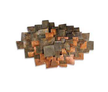 C. Jeré Integrate wandscultpuur, metaal