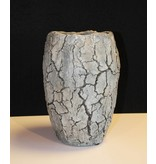 Rasteli Cement stone vase, gray melting
