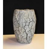 Rasteli Cementstenen vaas, grijs gemeleerd