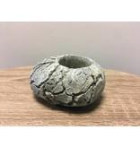 Rasteli Teelichthalter aus Stein, Zementgrau