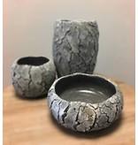 Rasteli Ronde stenen schaal met hoge rand