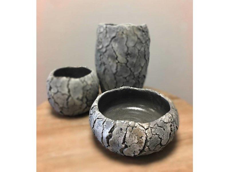 Rasteli Runde Steinschale mit hohem Rand