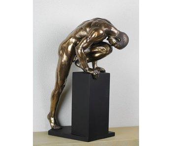 BodyTalk Stretching Athleten, Bodybuilder Skulptur - L