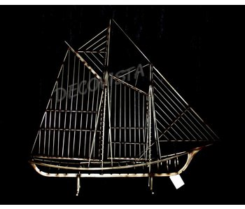 C. Jeré - Artisan House Sculpture Sailboat Skeleton Schooner Boat The Mariner