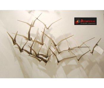 C. Jeré - Artisan House Wanddecoratie Seagulls II - Brass