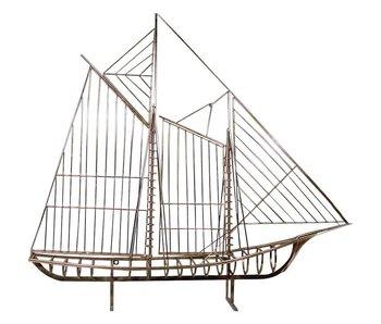 C. Jeré - Artisan House Sculpture Sailboat Skeleton Schooner Boat The Mariner