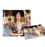 Carmani Glasteller mit Klimt-Motiv