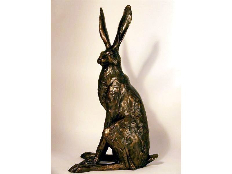 Frith Sitting hare, hare statue by Paul Jenkins
