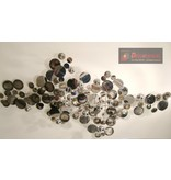C. Jeré - Artisan House Wall art sculpture Raindrops Silver - C. Jeré - Artisan House