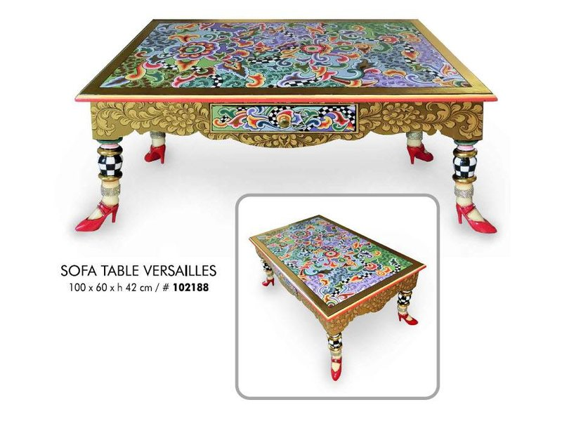 Toms Drag Rechthoekige salontafel in Versailles stijl
