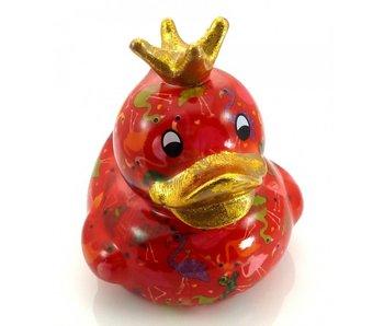 Pomme-Pidou Spaarpot Duck, eend King Ducky