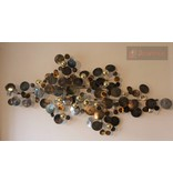 C. Jeré Metal wall art sculpture Raindrops Brass, C. Jeré Artisan House