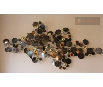 C. Jeré Wall Art sculpture Raindrops Brass