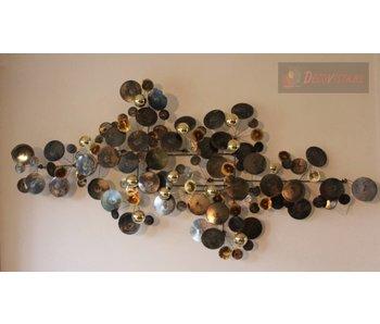 C. Jeré Wandskulptur Raindrops Brass