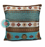 BoHo Dekoratives Kissen Aztec aus Möbelstoff 45 x 45 cm