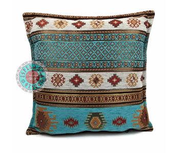 BoHo Bohemian cushion cover Aztec Turquoise - 45 x 45 cm