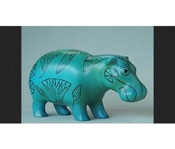 Mouseion Faience hipopótamo egipto