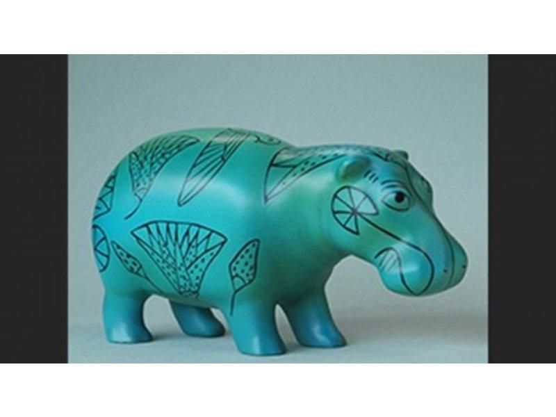 Faience hipopótamo egipto