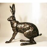 Frith Hasen Skulptur Hasen - Laufender (erschrockener) Hase