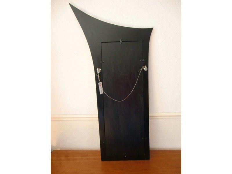 Onwijs Rechthoekige spiegel in houten lijst, 100 cm lang - DecoVista TE-31