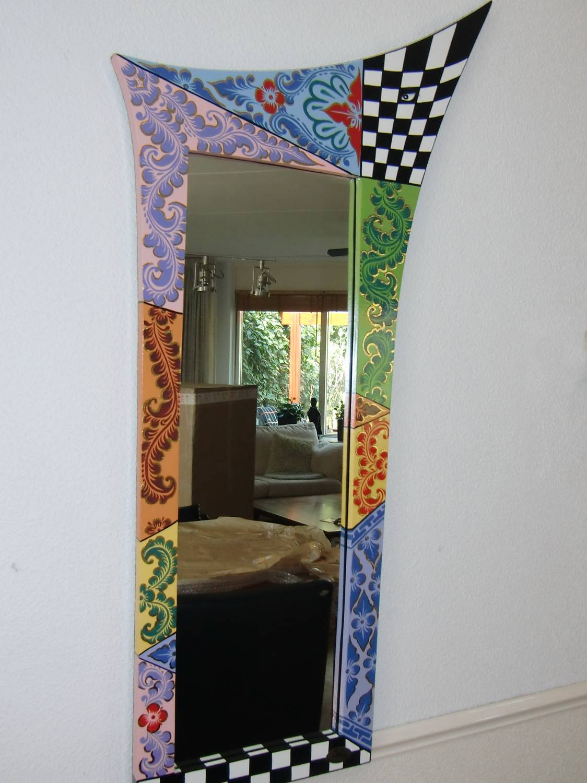 Super Rechthoekige spiegel in houten lijst, 100 cm lang - DecoVista SN-63