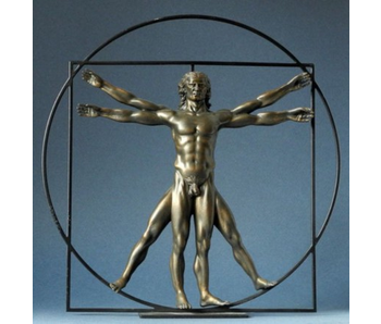 Mouseion The Vitruvian Man  - bronze colour