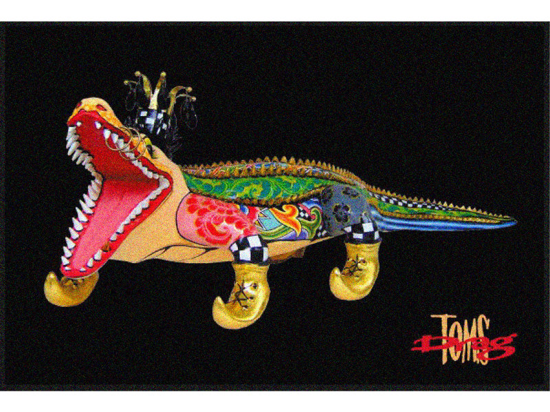 Toms Drag Deurmat Krokodil Alligator