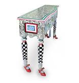 Toms Drag Console tafel Versailles, kaptafel, haltafel Silver Line