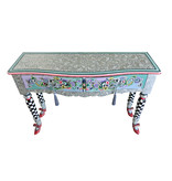 Toms Drag Console table or chest Versailles Silver Line, Dressing table, hall table