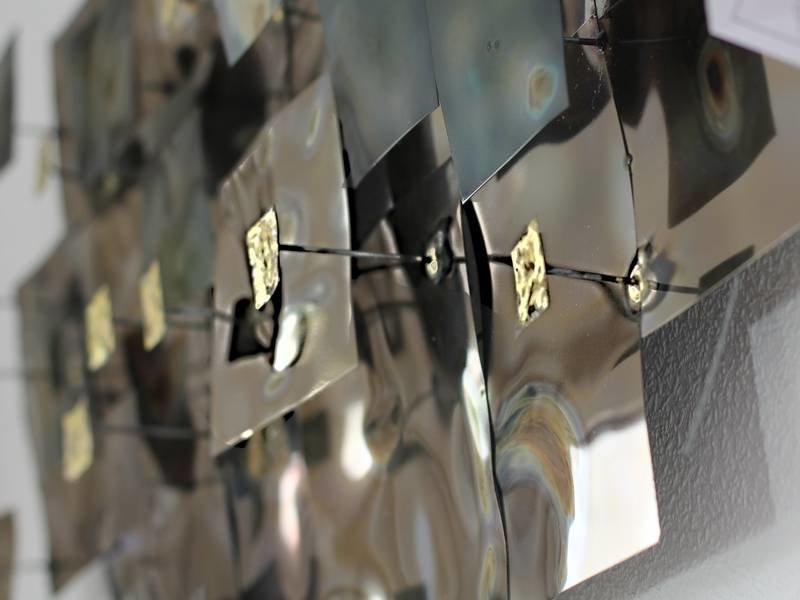 C. Jeré Wanddecoratie Aquous, 3-D object in metaal van C. Jeré