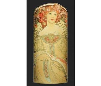 Mouseion Vase  Mucha, Rêverie (1897) Silhouette d'Art