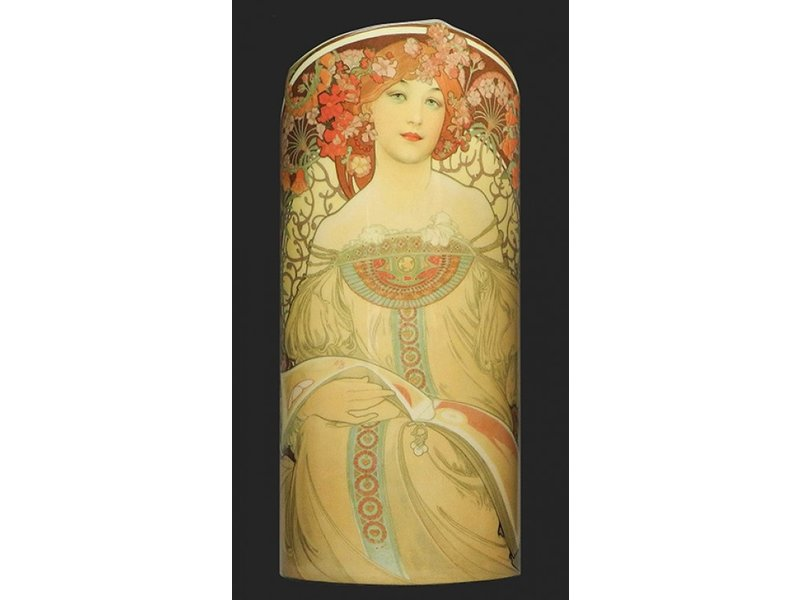 Mouseion Mucha, Rêverie (1897) ,  artistieke  kunst  bloemenvaas,  museum collectie vaas Silhouette d'Ar