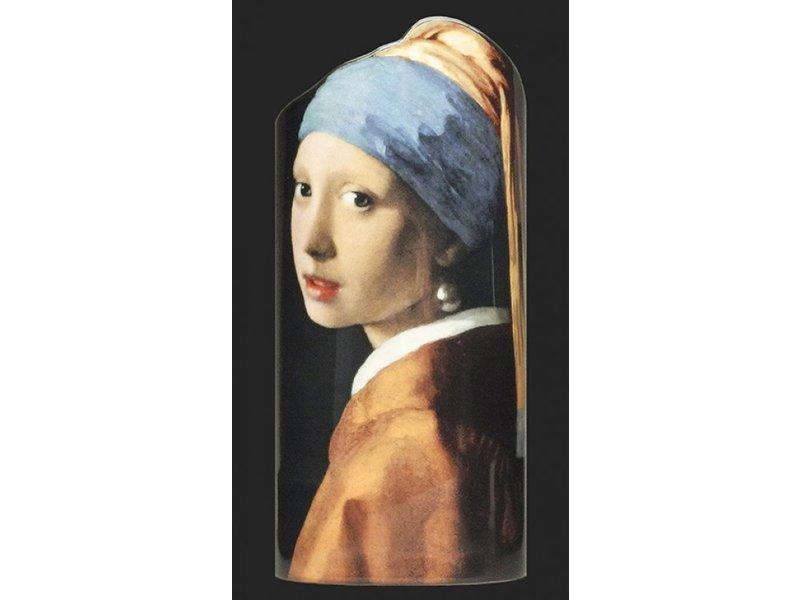 Silhouette d'Art - John Beswick Johannes Vermeer - Het meisje met de parel,  artistieke bloemenvaas Silhouette d'Art, vaas   museum vaas, kunstvaas