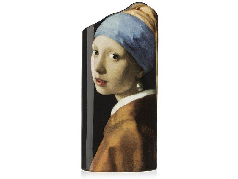 Silhouette d'Art - John Beswick Vaas Het meisje met de parel van Johannes Vermeer, artistieke bloemenvaas Silhouette d'Art collectie