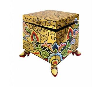 Toms Drag Quadratisches Box, gold