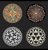 Mouseion Juego de cuatro posavasos en soporte de M.C. Escher