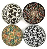 Mouseion Set van vier onderzetterss in houder van M.C. Escher