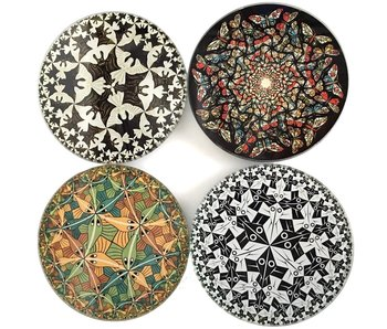 Mouseion Coasters Set, MC Escher Circles