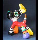 Jacky Art Perro Stanley, alegre estatua de animal de colores