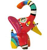 Jacky Art Elefante Hugo, alegre estatua de animal de colores