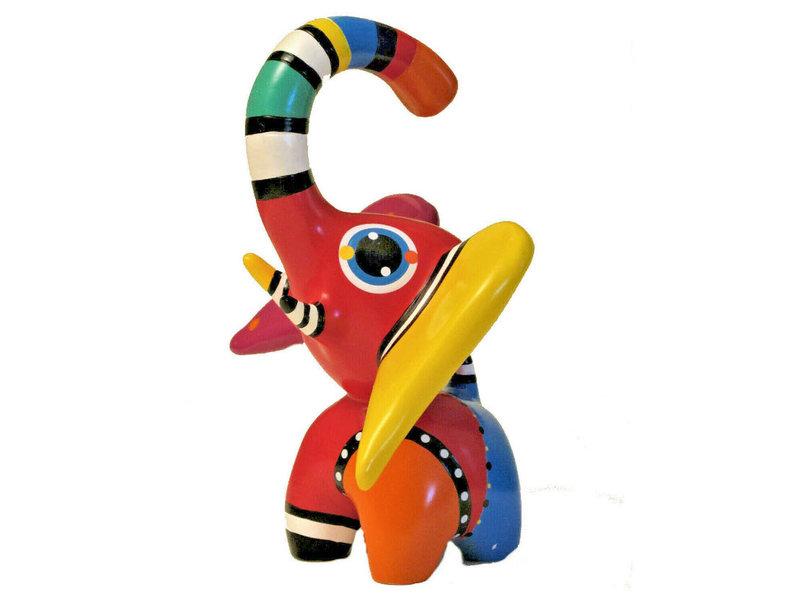 Jacky Art Elefant Hugo, brightly coloured animal figurine