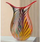 Gilde GlasArt Glass design vase Fiori Colori
