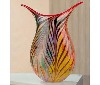 Gilde GlasArt Glas Design Vase Fiori Colori