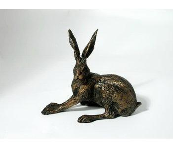 Frith Hockender Hase Skulptur